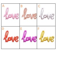 MII LOVE Wording Balloon Set