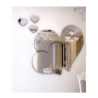 3D Mirror Love Hearts Wall Sticker Decal DIY Home Art Mural Decor Removable