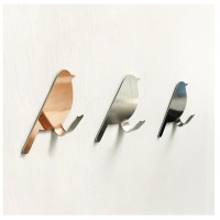 MII Self Adhesive Bird Shape Strong Home Kitchen Hooks