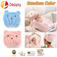 Cotton Cute Animal Bear Shape Hair Cap Adults Dry Hair Absorbent Shower Cap