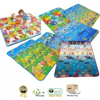 180cm x 200cm Double Sided Waterproof Baby Crawl Play Mat Picnic Mat Carpet (Random Design)