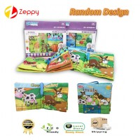 Baby Kids Soft Cloth Book Early Educational Cartoon Book Toys