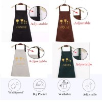 Zeppy Waterproof Kitchen Apron Nice Design 4 Design Fork & Spoon Apron