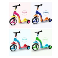 2 in 1 Kids Child Scooter Balance Car Children's Balance Bike Baby Multifunctional Tricycle with 3 Wheels