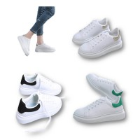 Style Trending Leather White Shoes Male Female Sport Casual Fashion Shoes Sneakers