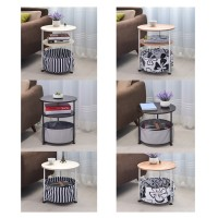 Creative Moveable Round Sofa Bed Side Table