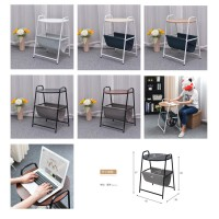 Simple Moveable Sofa Laptop Stand Round Mini-Side Table Bedroom Storage Bookshelf Bedside Storage Small Coffee Table