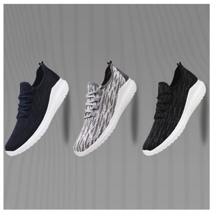 KAPEE Men Women Sport Shoes Runing Black Causal Shoes Breathable Mesh Shoes Sneaker