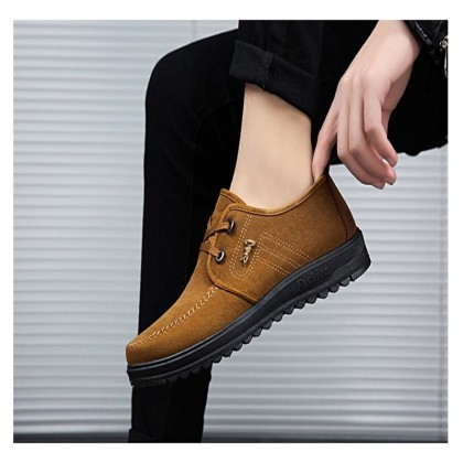 KAPEE 2020 Cow Rib Bottom Cloth Shoes Men's Middle-Aged and Elderly Work Anti-Slip Casual