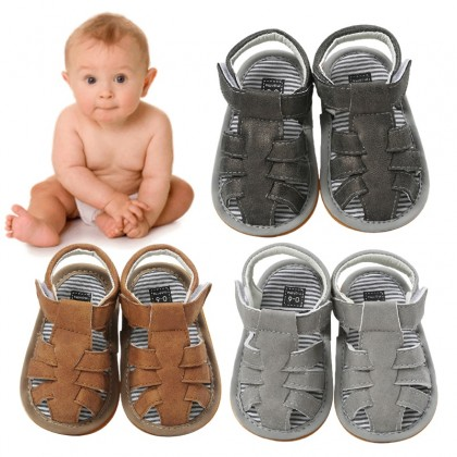 KAPEE Baby Toddler Sandals Infant Beach Flat Shoes Soft Anti-Slip Rubber Sole Baby Sandals for Infant