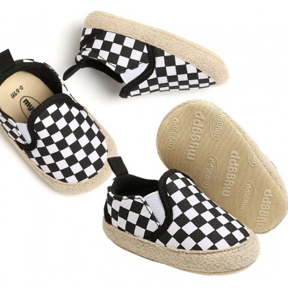 KAPEE Baby Girls Boys Canvas Syle Shoes Soft Sole Toddler Slip On Casual Sneaker Flat Loafers First Shoe