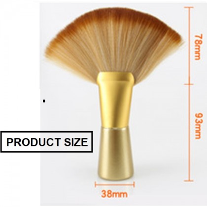 FIVE & DIME Soft Large Fan-shaped Salon Stylist Barber Neck Face Duster Hair Brush Cutting Tools