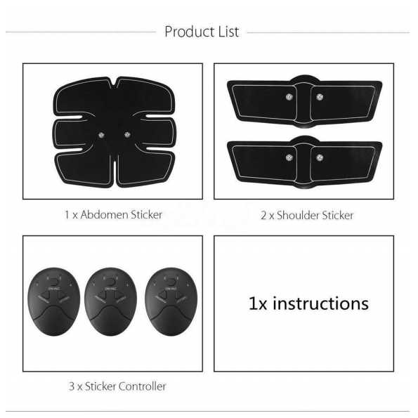 Abdominal and Shoulder Muscle Body Shape Training Device Gear Pad Fitn